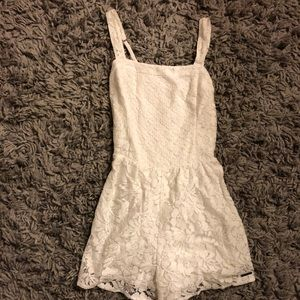 Abercrombie & Fitch White Lace Romper